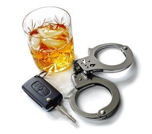 Liquor, keys and handcuffs